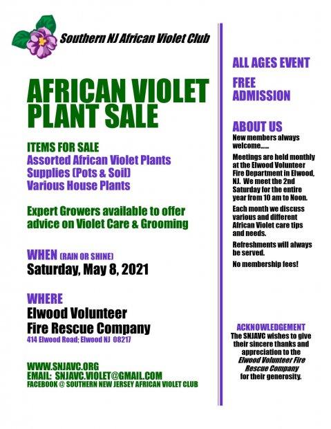 SNJAVC Plant sale 5-8-21